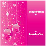 Shiny pink christmas background Stock Photography