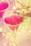 Shiny pink cocktail Royalty Free Stock Photo