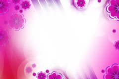 Shiny pink flowers, abstract background Stock Photos