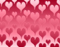 Shiny Pink Hearts Background Pattern Royalty Free Stock Photos
