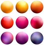 Shiny pink pearls on white background isolated. Yellow glass beads. Festive red balls. Purple brilliance beads abstract illustrati. Stylish image for a variety Stock Photos