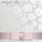 Shiny pink ribbon. On floral background Stock Photo