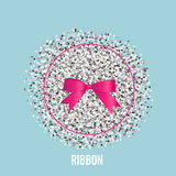 Shiny pink ribbon. Vector illustration Stock Photography