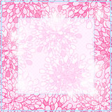 Shiny Pink Square Floral Card Frame Stock Image