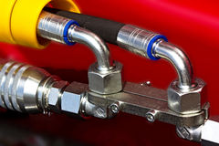 Shiny Pipes Royalty Free Stock Photography