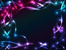 Shiny plasma ribbon background Stock Image