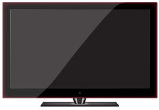 Shiny Plasma TV. Isolated on the white background Stock Illustration