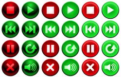 Shiny player buttons Stock Photography