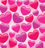 Shiny Plump Heart Pattern Royalty Free Stock Image