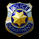 Shiny police badge royalty free illustration