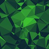 Shiny Polygonal Background in Dark Forest and Kelly Green Tones. Polygonal Background in siny dark forest green texture perfect for luxury brands, website Stock Photography