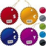 Shiny price tags. Vector illustration of shiny price tags in assorted colors vector illustration