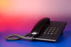 Shiny prospects of business. Phone on gradient background Royalty Free Stock Photo