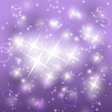 Shiny purple background. With stars Stock Photos