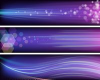 Shiny purple banners Royalty Free Stock Photos