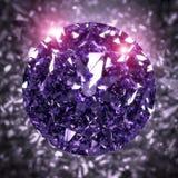Shiny Purple Diamond. 3 D render of shiny diamond Stock Photo