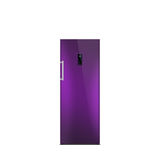 Shiny purple freezer isolated on white. Royalty Free Stock Photography