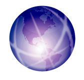 Shiny purple globe Royalty Free Stock Photography