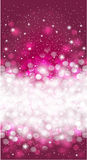 Shiny Purple winter christmas invitation background design Stock Image