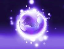 Shiny purple world Stock Photo