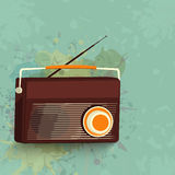 Shiny radio for music concept. Royalty Free Stock Photography