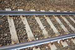 Shiny railways tracks stock photography