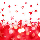 Shiny rain of red stars background Stock Photos