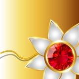 Shiny rakhi vector background Stock Image