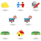 Shiny Real Estate Icons Royalty Free Stock Images