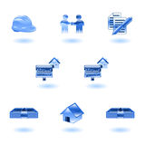 Shiny Real Estate Icons Stock Photos
