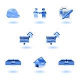 Shiny Real Estate Icons Stock Photos