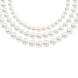 Shiny realistic Pearl necklace isolated on white background. Vector design Royalty Free Stock Image