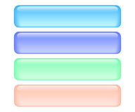 Shiny rectangle buttons. Shiny rectangle menu buttons isolated. Vector illustration Royalty Free Stock Photography