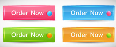 Shiny Rectangle Menu Buttons vector illustration Royalty Free Stock Photo