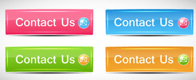 Shiny Rectangle Menu Buttons vector illustration Royalty Free Stock Photos