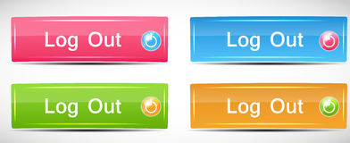 Shiny Rectangle Menu Buttons vector illustration Stock Photos