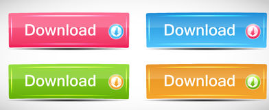 Shiny Rectangle Menu Buttons vector illustration Stock Image