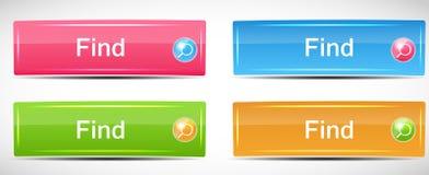 Shiny Rectangle Menu Buttons vector illustration Stock Photos