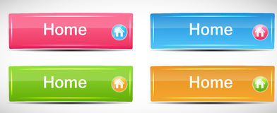 Shiny Rectangle Menu Buttons vector illustration Stock Photography