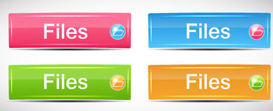 Shiny Rectangle Menu Buttons vector illustration Royalty Free Stock Image