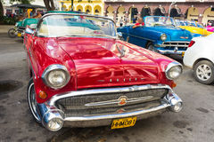Shiny red 1957 Buick in Havana Royalty Free Stock Photos