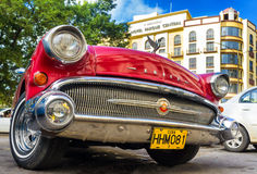 Shiny red 1957 Buick in Havana Royalty Free Stock Images