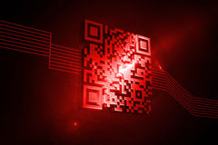 Shiny red barcode Royalty Free Stock Images