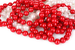 Shiny red beads Royalty Free Stock Photo