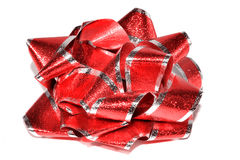 Shiny Red Bow Royalty Free Stock Photo