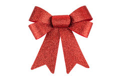 Shiny red bow Royalty Free Stock Image