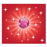 Shiny Red christmas background. Shiny red floral christmas background Royalty Free Stock Images