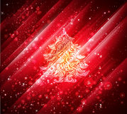Shiny red christmas background Stock Photography