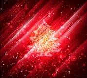 Shiny red christmas background. Shiny beautiful red christmas background vector illustration