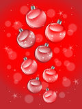 Shiny Red Christmas Balls Royalty Free Stock Images